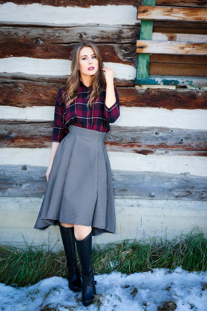Maska Mode dress shirt & skirt, Nine West boots